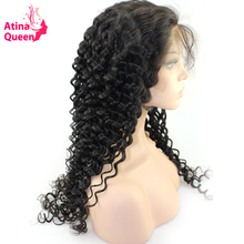 Atina Queen Deep Wave Lace Front Wigs with Baby Hair For Black Women Pre Plucked Natural Hairline Remy Human Hair 180% Density