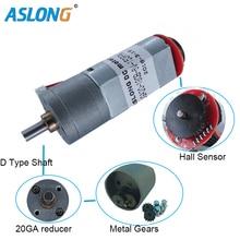цена на JGA20-180B 12V  Coded Motor DC Deceleration Motor  With Hall sensor Encoder small motor high torque dc gear motor  encoder