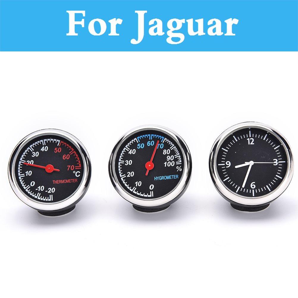 Coche Termómetro digital Higrómetro Reloj de cuarzo redondo - Accesorios de interior de coche