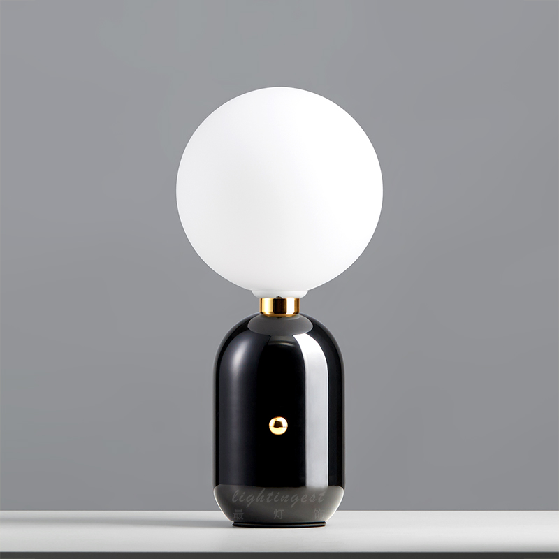 Роскошные Европа настольная лампа современные матовое стекло золото Крытый лампа творческий металл исследование гостиная спальня понижен...