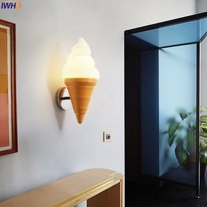 Image 3 - IWHD Ice Cream Modern Wall Lamp Carton Children Room Bar LED Wall Light Sconce Fixtures Arandelas Lampara Pared