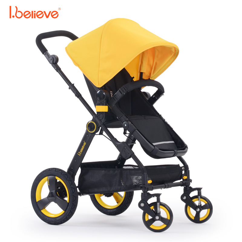I.believe Baby Stroller I-S021 Aurora Natural rubber four-wheel shock absorbers Sit&Lie in 1 SGS certification
