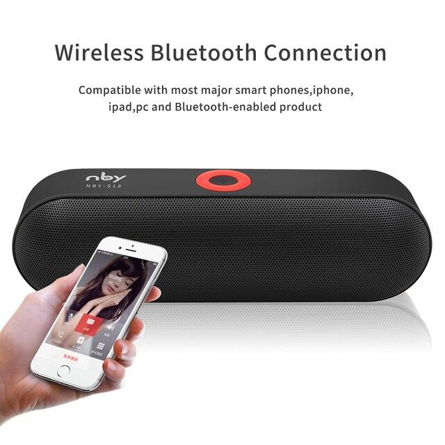 Haut-parleur Bluetooth Portable NBY S18 avec haut-parleur double pilote, 12 heures de lecture, haut-parleurs sans fil pour Subwoofer Audio HD avec micro