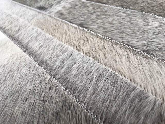 Online Shop Natural Grey Cowhide Real Cow Fur Area Rug For Living Room Or Bedroom Dining Non Slip Design Used Any Kinds Of Floor