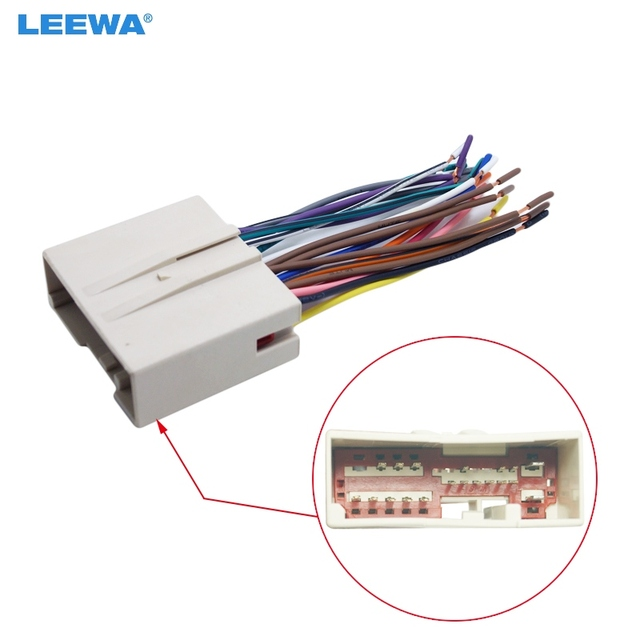 leewa car radio cd player wiring harness audio stereo wire adapter rh aliexpress com jeep stereo wiring harness adapter car stereo wiring harness adapter