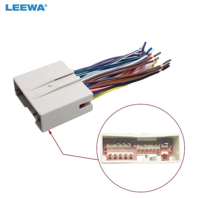 LEEWA Car Radio CD Player Wiring Harness Audio Stereo Wire Adapter