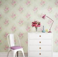 Rustic Non woven Wallpaper 3D flower Wall Papers TV Backsplash Rose Wallpapers Photo Mural wall papers home decor living room
