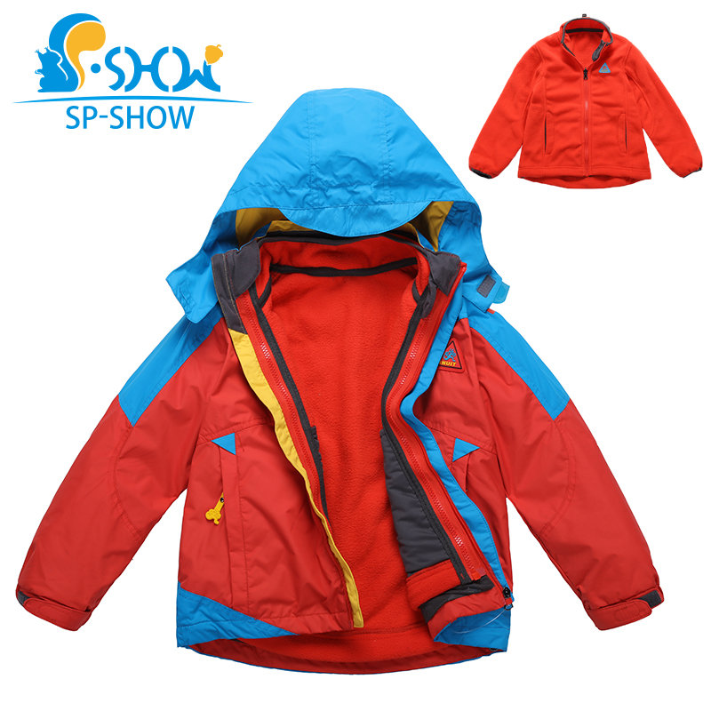 2019 Luxury Brand 6-10 Age Boys Double Piece Hooded Trench Spring & Autumn Waterproof Jacket For Girls SP-SHOW Coats 691042019 Luxury Brand 6-10 Age Boys Double Piece Hooded Trench Spring & Autumn Waterproof Jacket For Girls SP-SHOW Coats 69104