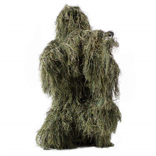 Hunting Ghillie Suit Camo Woodland Camouflage Forest 3D Tactical Suits Sniper Clothes Hunt Outdoor Costume for Unisex Adults