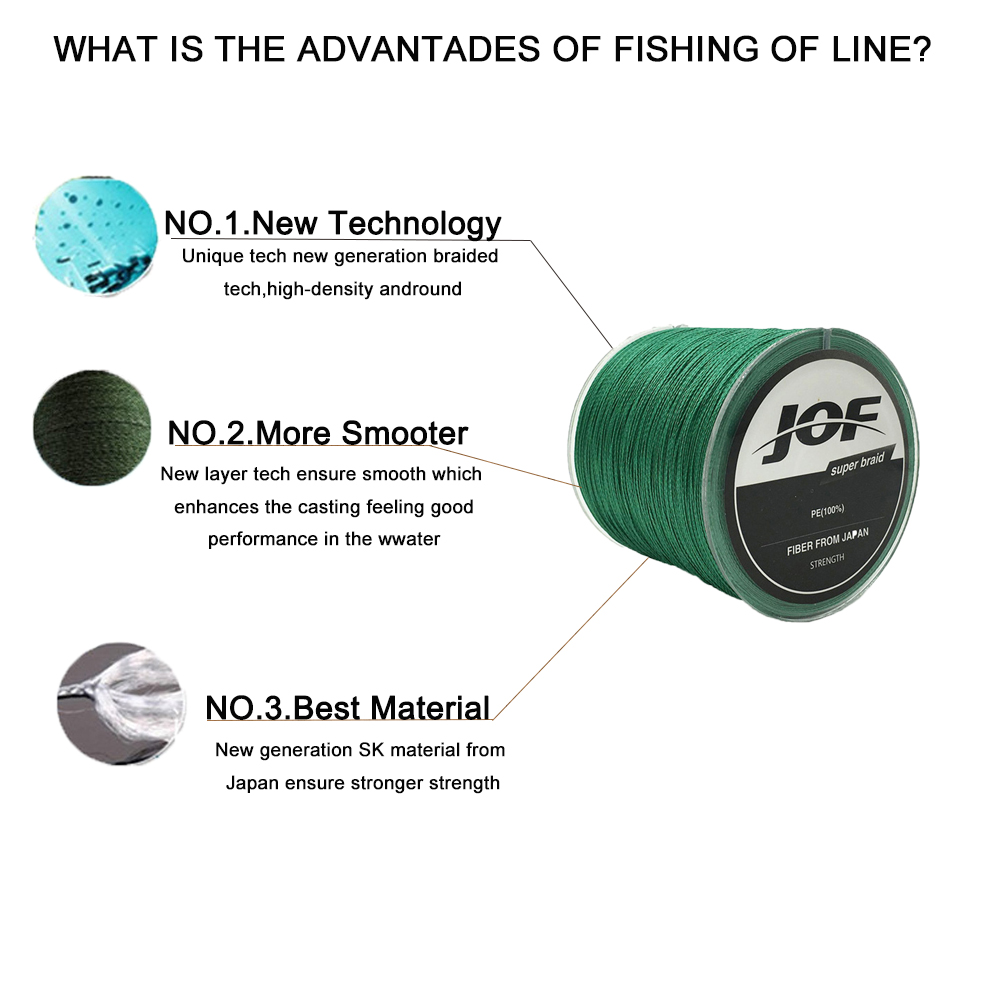 Pesca 500 M PE Multifilamento Linhas de
