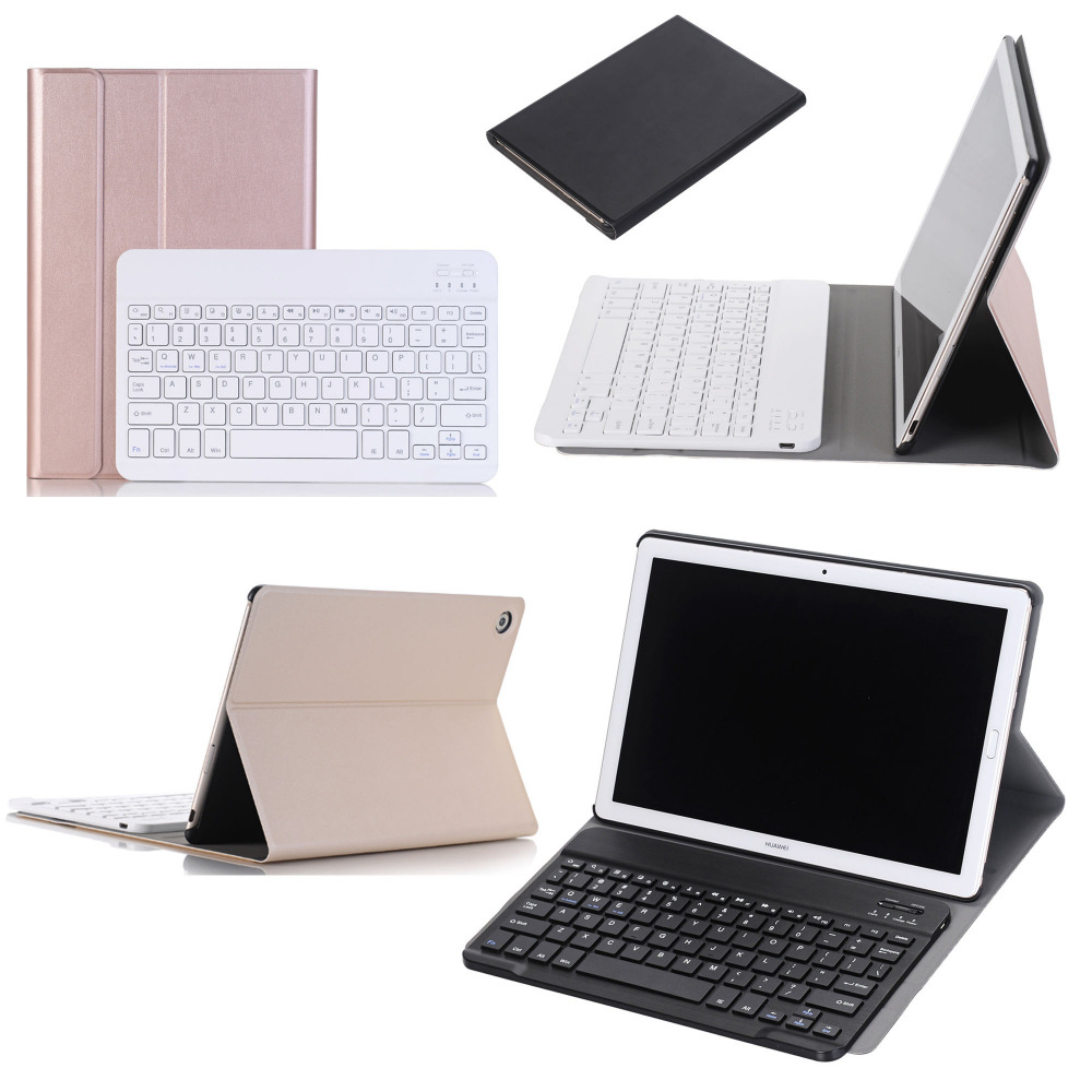 Russian Spanish Hebrew Wireless Bluetooth Keyboard Stand Leather Funda Case For Huawei MediaPad M5 10 8