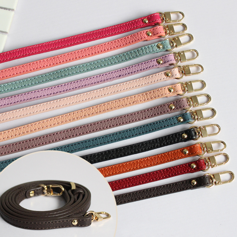 DIY Women Genuine Leather Bag Strap 1*120CM Bag Accessories For Brand Bag Gold Hardware Adjustable Replacement Straps