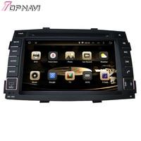 Topnavi 7 ''Octa core 4 ГБ Оперативная память Android 6.0 автомобиль видеоплеер Авто аудио DVD ПК для Kia Sorento 2010 2011 2012 GPS Радио