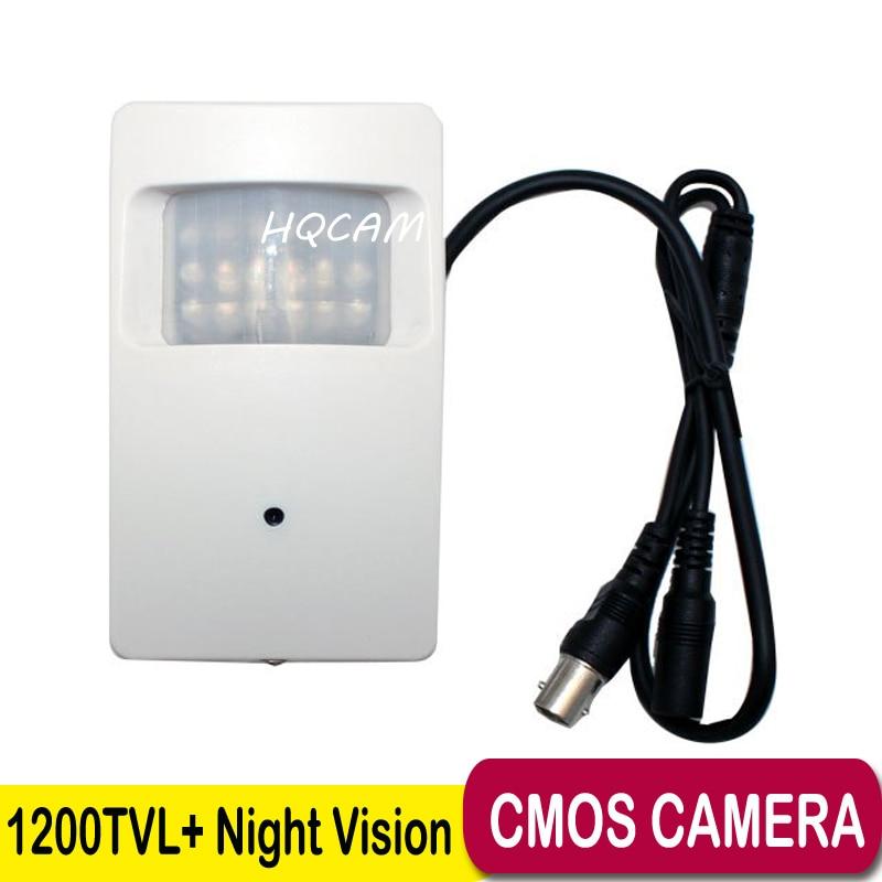 ФОТО Night Vision CAM 1200TVL CCTV security Camera CMOS Color 960H Motion Detector PIR STYLE Indoor CCTV Mini PIR Surveillance Camera