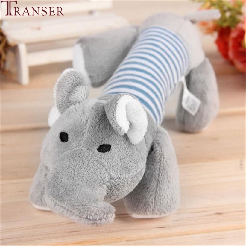 Transer Pet Supply Soft Plush Animal Elephant Dog Sound Chew Toys For Small Large Dogs 80224