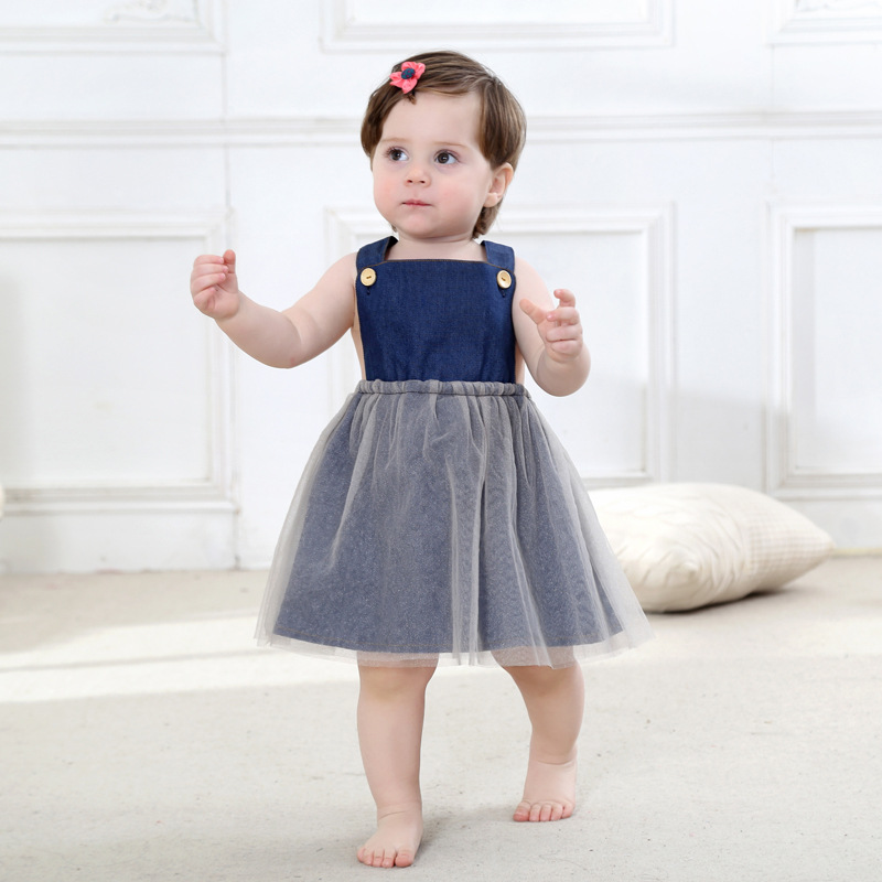 Infant Girl Dresses New Born Baby Girls Tutu Princess Dress Fashion Sleeveless Back Cross Toddler Kids A-Line Ball Gown Sundress new born baby girl clothes leopard 3pcs suit rompers tutu skirt dress headband hat fashion kids infant clothing sets