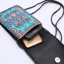 OL Brand New national wind ladies shoulder phone bag large capacity shoulder bag ladies women wallet  WEIJ1