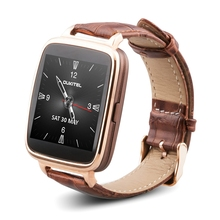 Original oukitel a28 smart watch bluetooth4.0 banda de cuero genuino corazón tracker monitor para ios android móviles