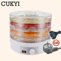 CUKYI Pet Food Dehydrator Fruits Vegetables Dryer Adjustable 5 Trays Layer Dried Meat Snacks Drying Machine