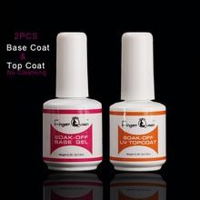 цена на FingerQueen Base coat &Top coat PolishFamous Brand 15ml Gel Nail Polish Gel Soak Off UV LED Long Lasting Nail Uv&Led lamp Uv gel