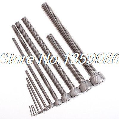 50Pcs <font><b>45mm</b></font> <font><b>M3</b></font> SUS304 Stainless Steel Female Hexagon Socket Head Cap Screws image