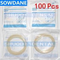 100 Pcs Dental Sterile Rubber Dam Cheek Lip Retractor Mouth Intraoral Opener White