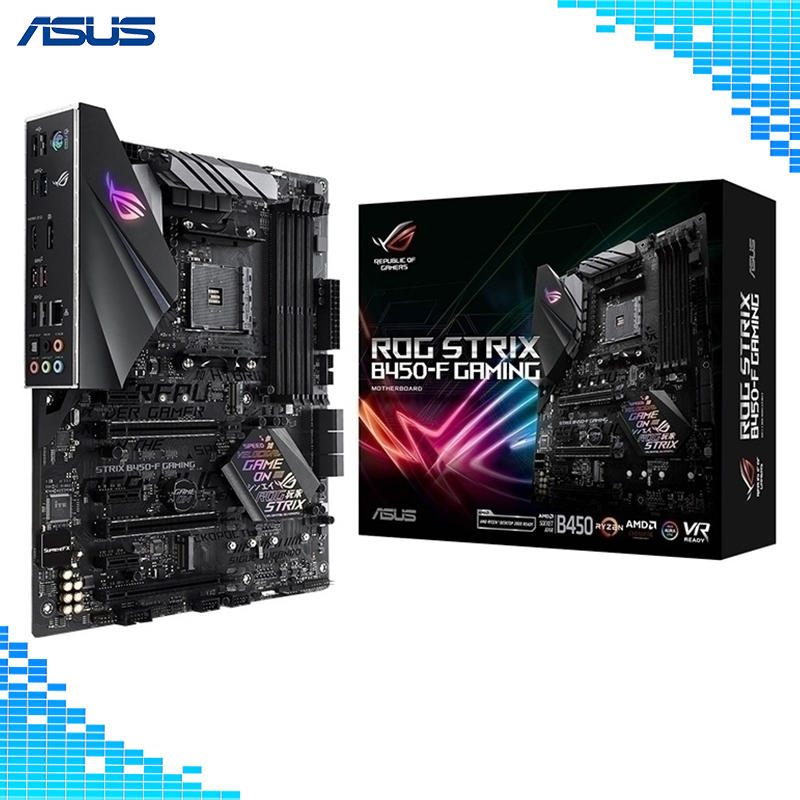 Asus ROG STRIX B450-F GAMING Motherboard AMD B450 socket AM4 ATX Motherboard image