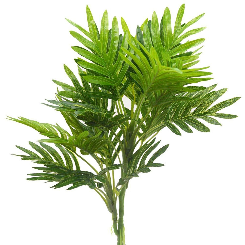 2Pcs Artificial Silk Plant Foliage Grass Bunch for Home Garden Patio Decor