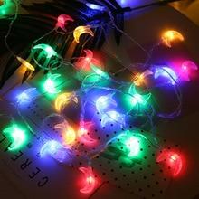 дешево!  BTgeuse Moon LED Строка Фея Ночные Огни на Рождество Партии DIY Украшения Лампы 3 М 5 М Работает