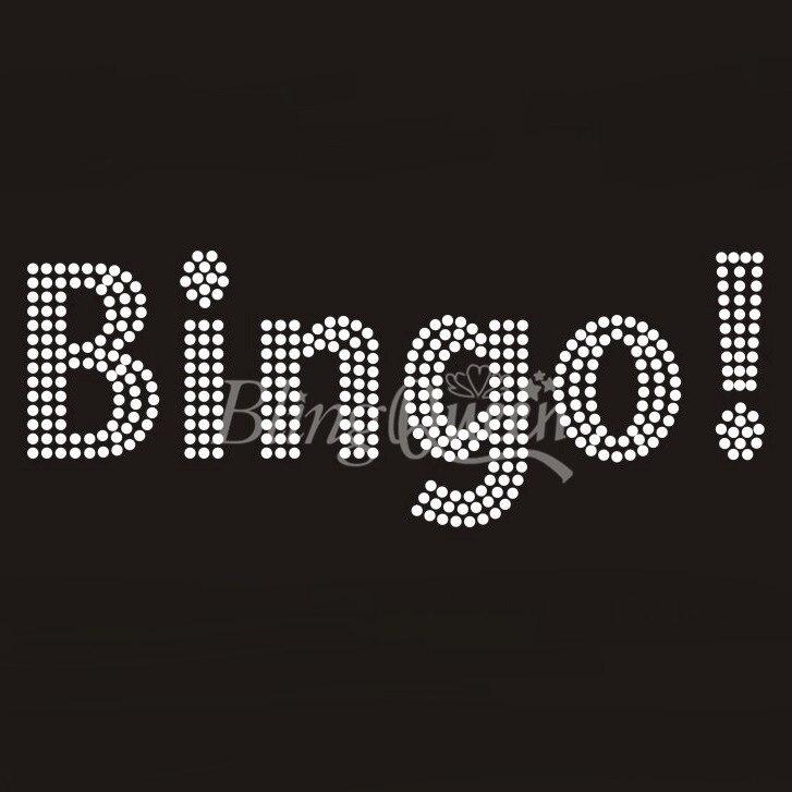 BlingQueen 25PCSLOT Bingo Rhinestone Transfers Iron On Bling