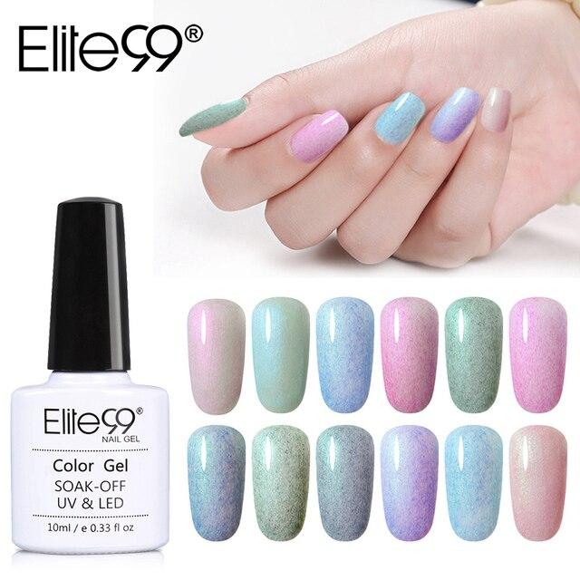 Elite99 10ML Faux Pelz Farbe Gel Nagellack Shell Meerjungfrau Vernis UV Lampe Gehärtet Basis Top Benötigen Gel Lack emaille Lack