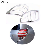 2PCS For Toyota RAV4 2009 2010 2011 Car Auto Exterior Accessories Rear Lamp Cover Taillights Trim Black Tail Light Covers Frame