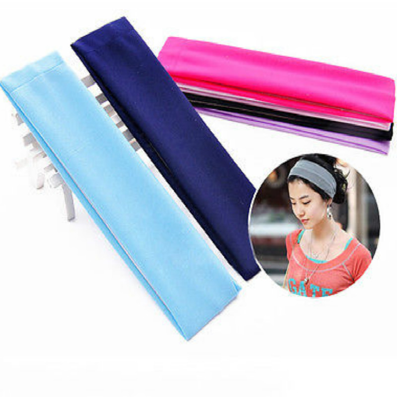 Sports Gym Stretchy Headband Stretch Cotton Hairband For Yoga Running in Women 39 s Hair Accessories from Apparel Accessories