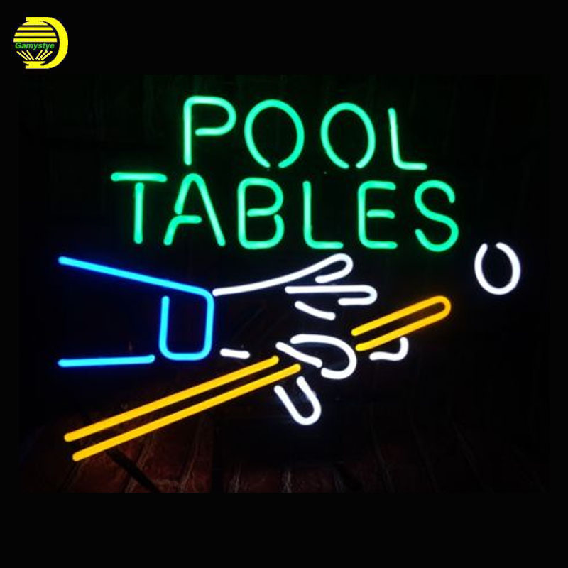 Neon Sign POOL TABLE Glass Tubes Neon Bulb Signboard lighted signs custom made neon elec ...