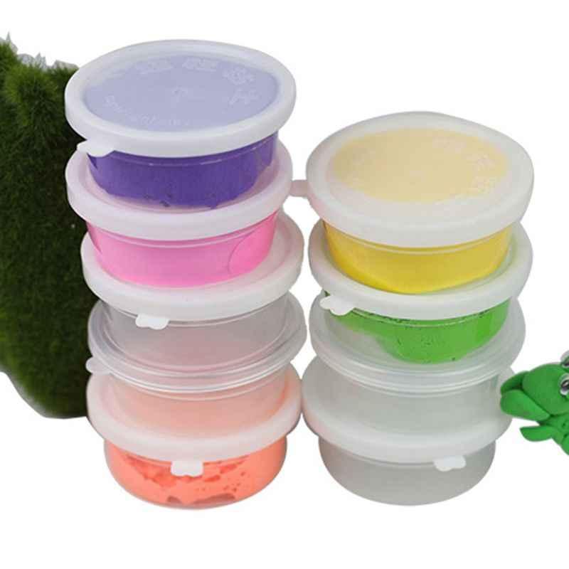 Baba contenedor de almacenamiento de pelota de espuma de almacenamiento caja de la caja de macetas con tapas para plastilina arcilla suave