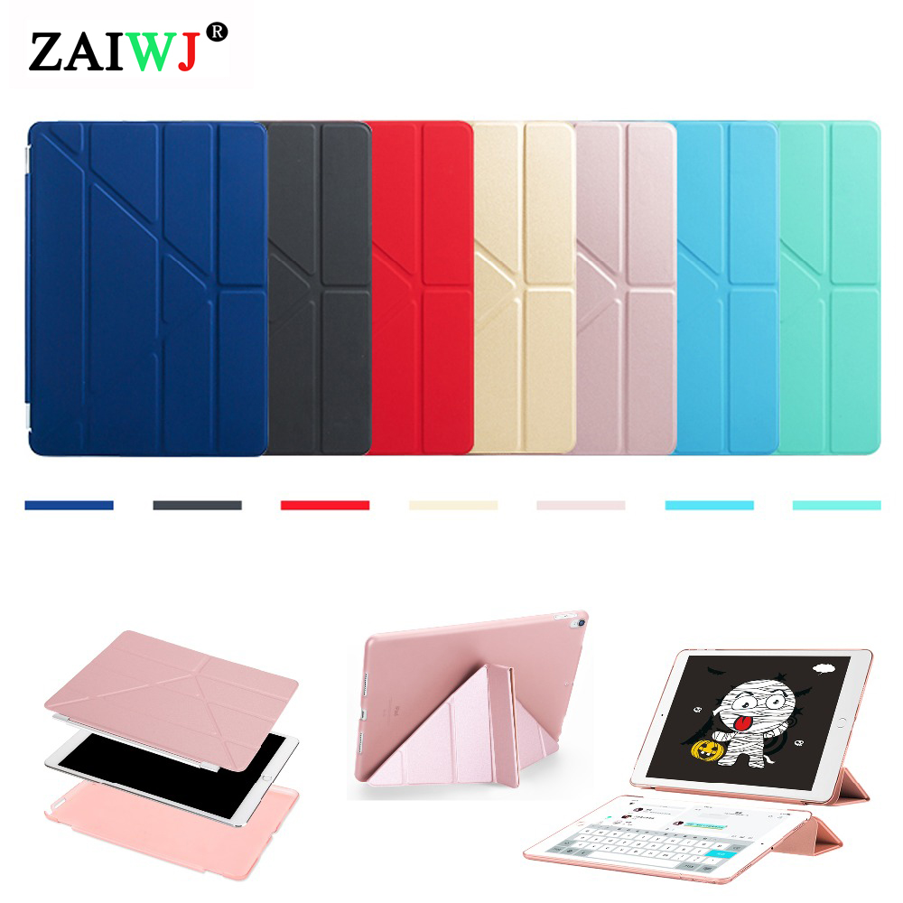 Case Cover Voor Ipad Pro 10.5 Inch 2017 Release Model A1701 A1709, Zaiwj Vervorming Pu Smart Cover Magneet Ontwaken Slapen Case Superieure (In) Kwaliteit