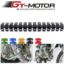 GT motor -free shipping  61CM Universal Motorcycle Exhaust Muffler Pipe Leg Protector Heat Shield Cover