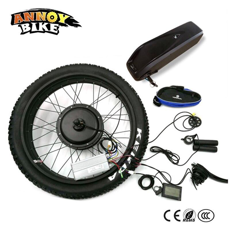 Ebike arrière lecteur 48 V 1000 W moteur roue contrôleur avec batterie vélo électrique gros neige vélo Kit de Conversion 24