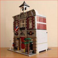 WAZ Compatible Legoe 10197 Lepin 15004 2313Pcs Street Fire Brigade Model Building Blocks Bricks Toys For