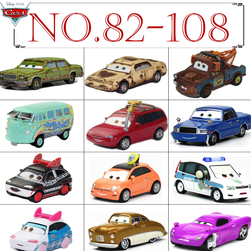 No.82-108 Disney Pixar Cars METAL Diecast cars Disney McQueen The King Rare collection toys for Children boys Y18071602 disney cars 61 см