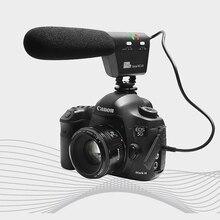 Pixel Micrófono Voical MC-50 Micrófono de Cañón para Canon Nikon Sony DSLR Cámara Montada Blackmagic