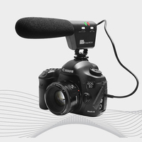 Pixel Microphone Voical MC 50 DSLR Camera Mounted Shotgun Microphone for Canon Nikon Sony Blackmagic