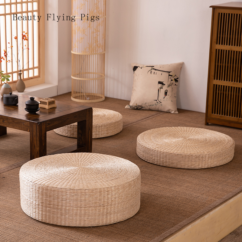 Futon Cushion Yoga-Mat Buddha-Pad Tatami Sitting Meditation Rattan Thickening Tea Pupa title=