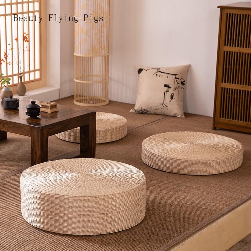 Rattan Tea Ceremony Worship Buddha Pad Meditation Thickening Meditation Pupa Meditation Sitting Futon Cushion Tatami Yoga Mat