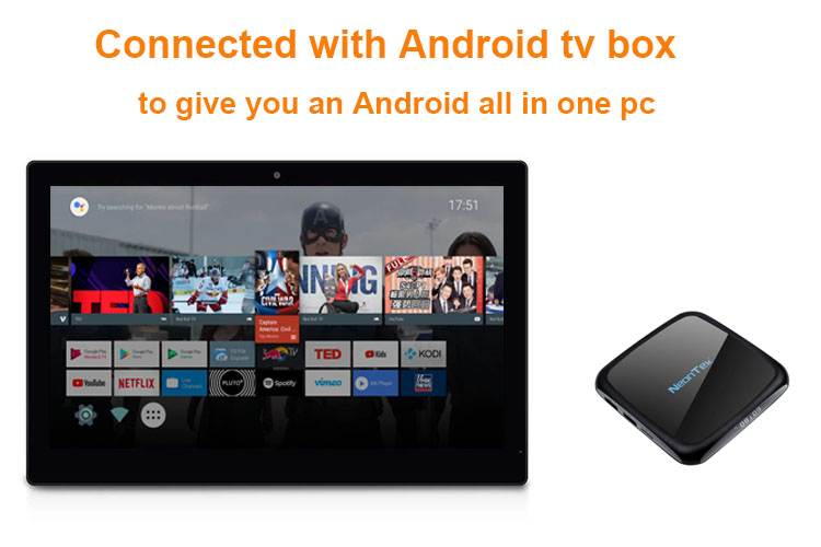 Connected with Android tv box