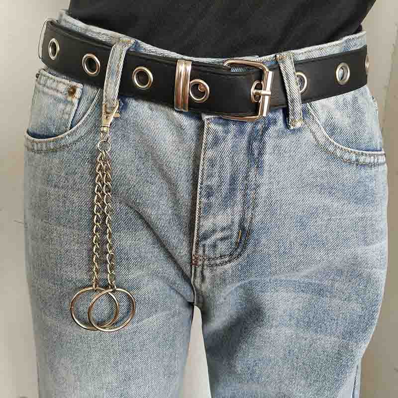 18CM Long Metal Big Ring Rock Punk Clip Hip Hop Jewelry Pants KeyChain Wallet Chain Trinket Llavero in Key Chains from Jewelry Accessories