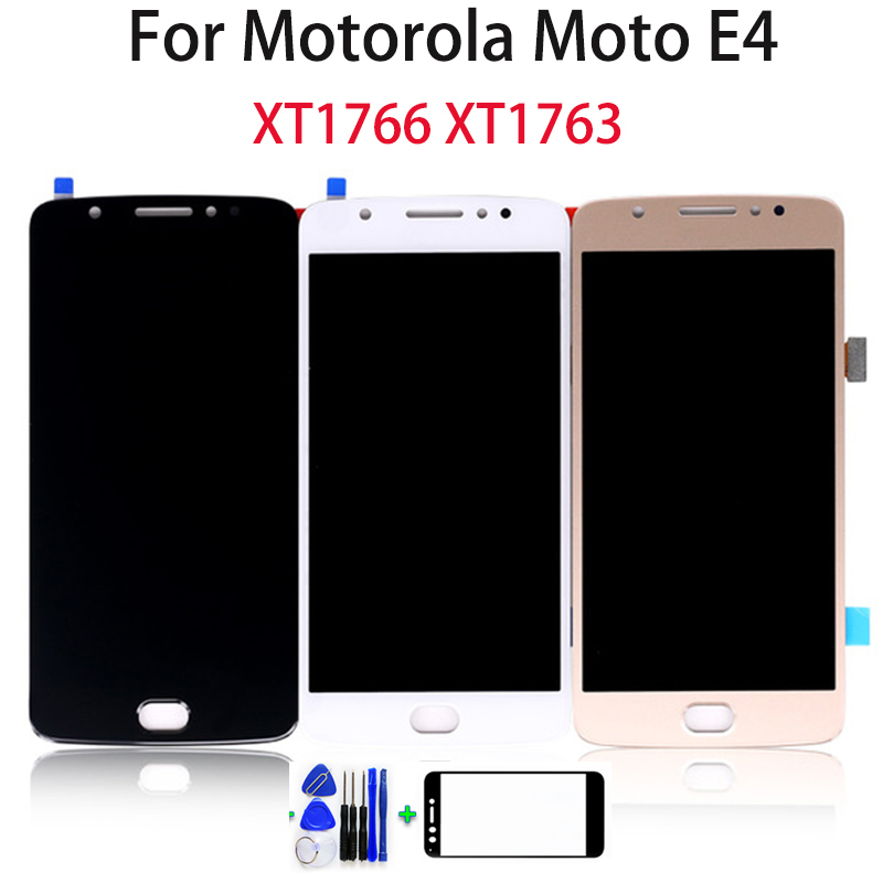 5.0 inch For Motorola for <font><b>Moto</b></font> <font><b>E4</b></font> XT1766 <font><b>XT1763</b></font> LCD <font><b>Display</b></font> Touch Screen for <font><b>Moto</b></font> <font><b>E4</b></font> Screen Digitizer Assembly Parts free Tools image