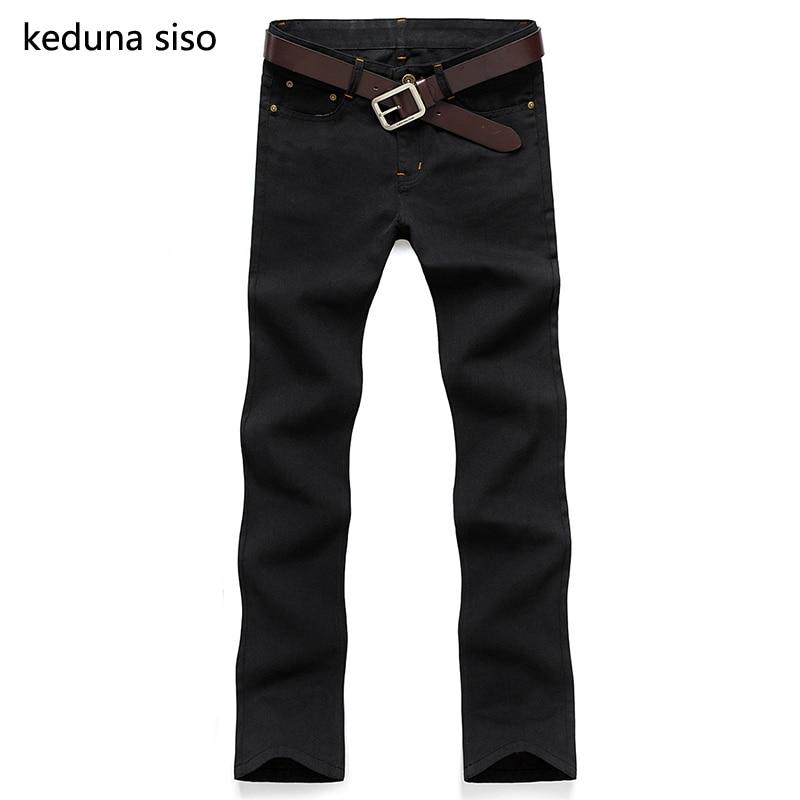 2016 Hot sale biker jeans men casual black denim straight design represent pants Men homme