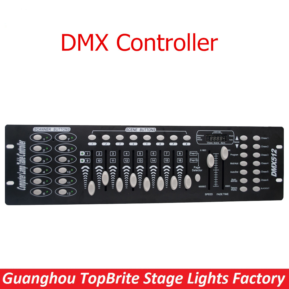 New Stage Light Controller 192CH DMX512 Controller For Stage DJ Equipment In Led Par Moving Head Beam Christmas Laser projector