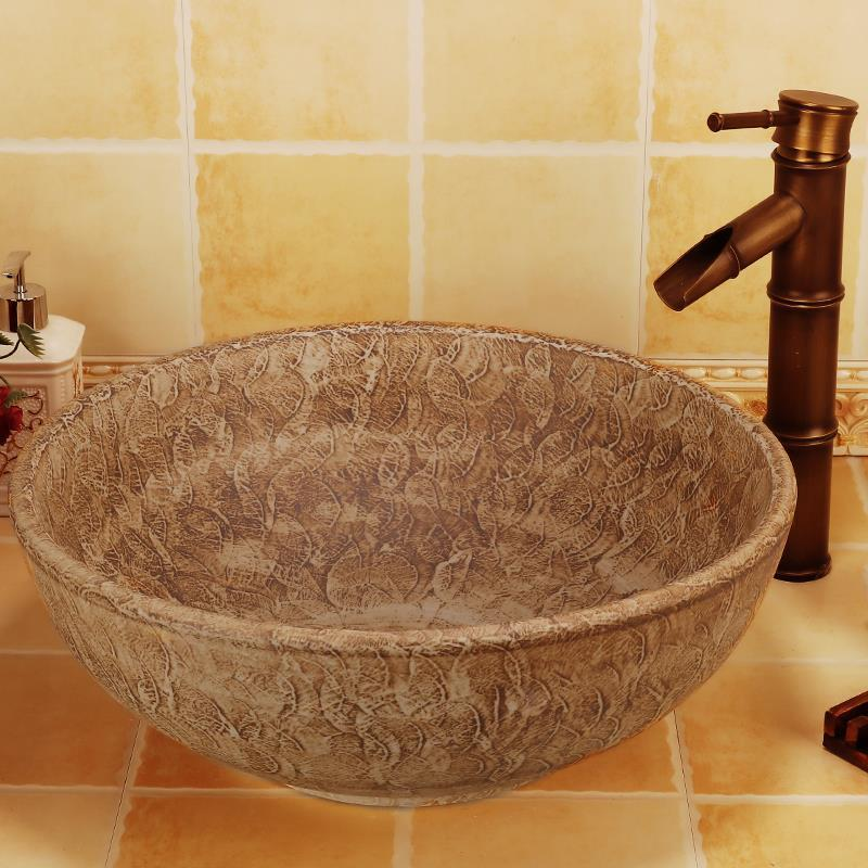 Handmade antique  ceramic porcelain hand wash face basin sink Handmade antique  ceramic porcelain hand wash face basin sink